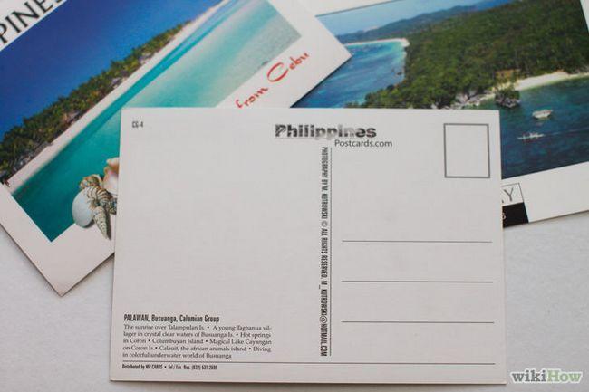 Dirigiéndose a una postal