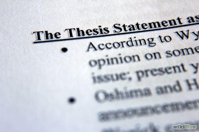 Cómo escribir una declaración de la tesis