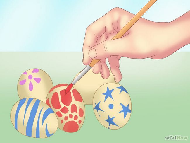 Realización de imágenes titulada huevos de dinosaurio Paso 7