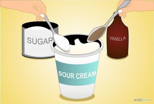 Imagen titulada Endulce crema agria con el azúcar y la vainilla Paso 2