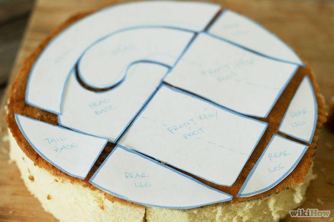 Imagen titulada hacer una torta de cumpleaños del dinosaurio 3D Paso 4