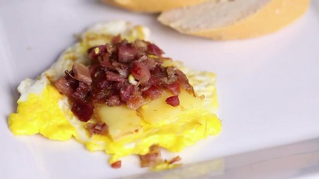 Realización de imágenes titulada huevo frito Paso 11 de previsualización