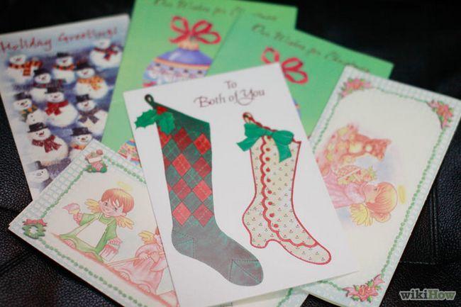 La reutilización de las tarjetas de navidad