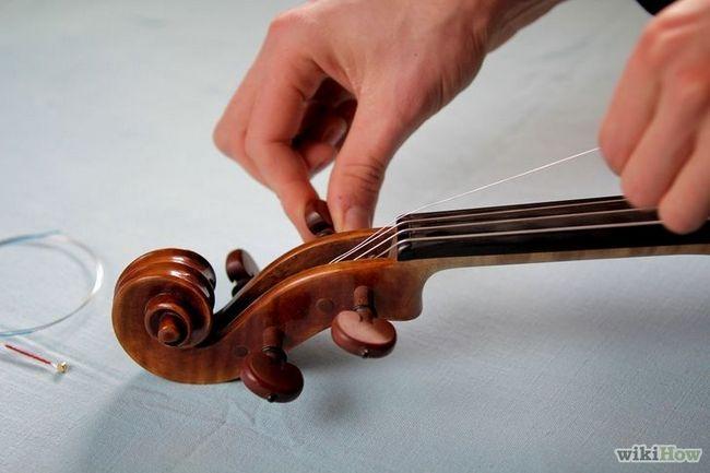 Sustitución de las cuerdas de un violín