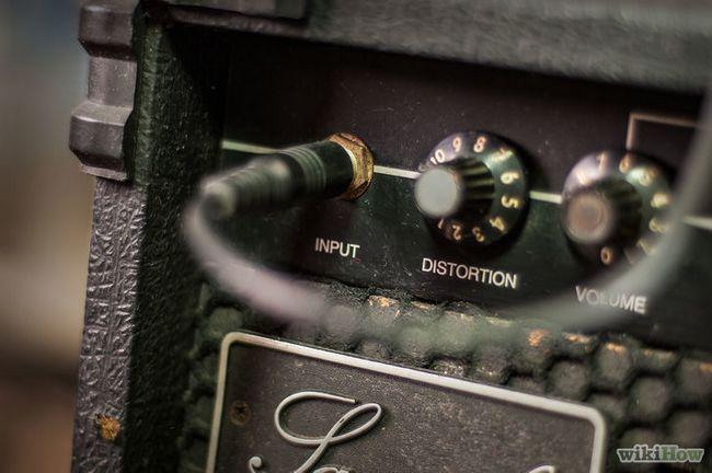 El uso de un amplificador de guitarra