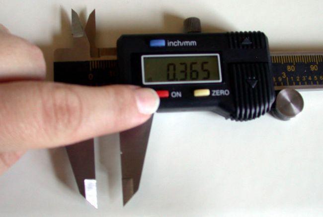 El uso de un calibrador