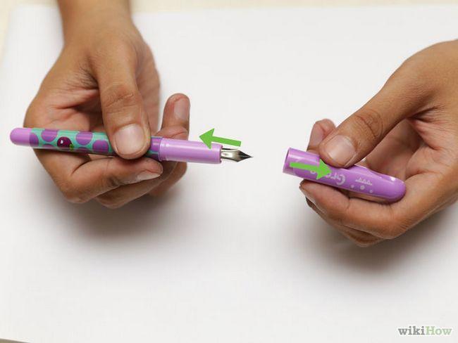 El uso de una pluma estilográfica