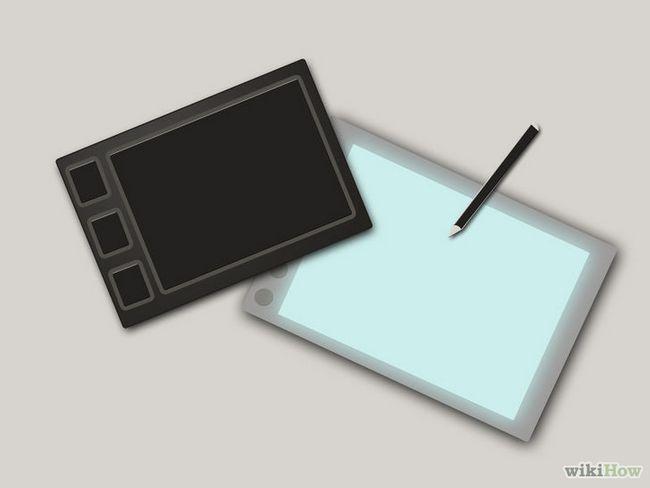 El uso de una tableta gráfica