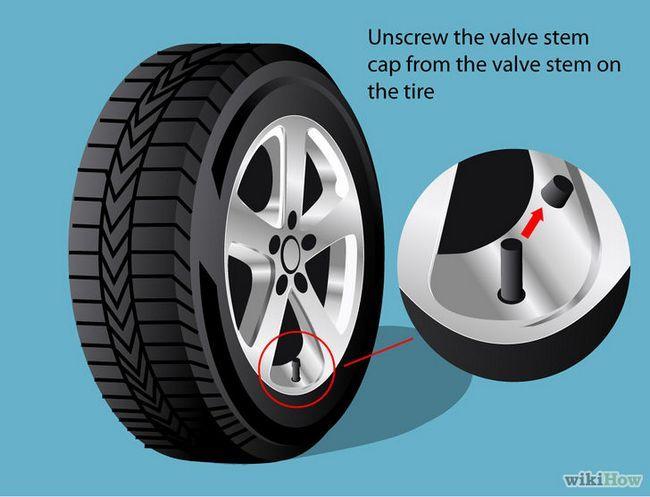 Imagen titulada Comprobar la presión de las ruedas Paso 3